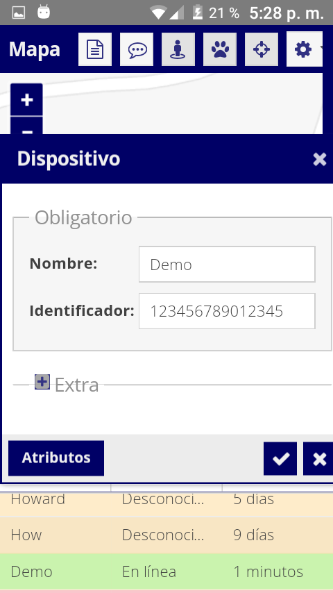 Edición de dispositivo